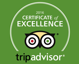 Certificate of excellent Tripadvisor